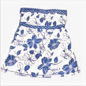 Abercrombie & Fitch Blue/White strapless top Sz Sm